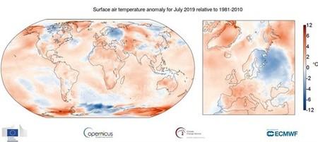 Este julio de 2019 fue el más caluroso de la historia desde que hay registros
