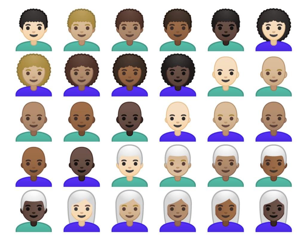 Android P Beta 2 Curly Bald White Hair Emojipedia