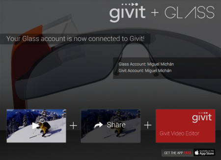 Givit para iPhone con soporte de Google Glass
