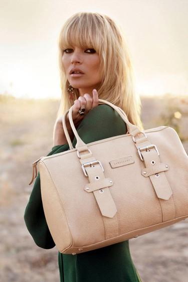 Kate Moss para Longchamp: el efecto cool y sus problemas con las mandarinas