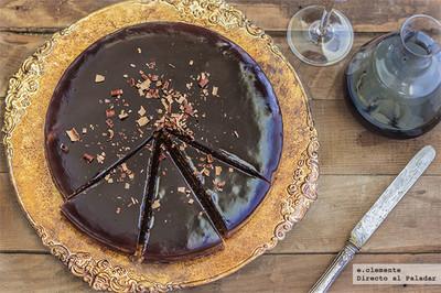 Pastel de chocolate y vino tinto. Receta