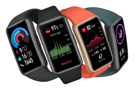 Huawei Band 6: la nueva pulsera de Huawei tiene un enorme panel AMOLED y promete dos semanas de batería
