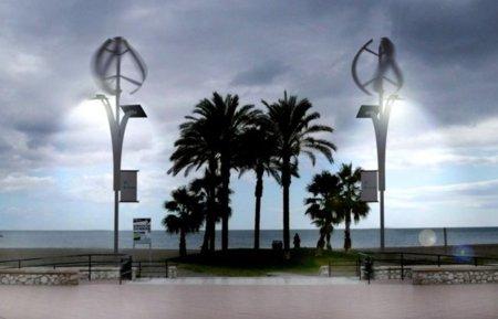 Smartcity Málaga farolas eólicas