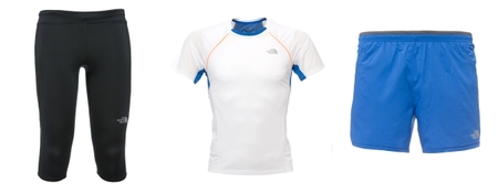 The North Face camiseta y shorts Better than Naked y mallas GTD Capri