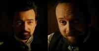 Paul Giamatti y Edward Norton en una escena de 'The Illusionist'