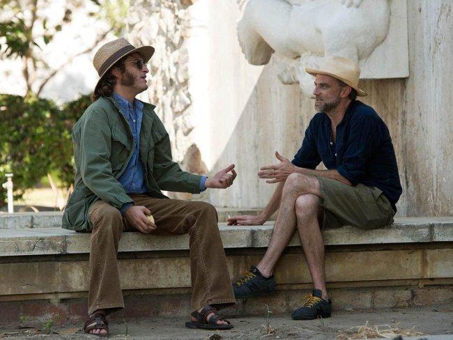 Joaquin Phoenix y Paul Thomas Anderson en el rodaje de Puro Vicio