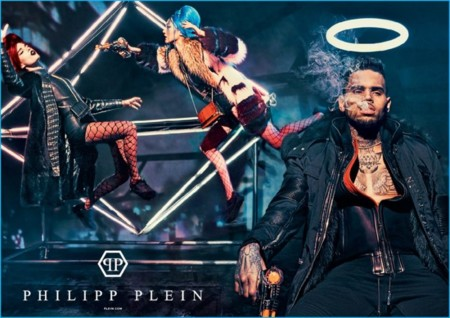 Chris Brown 2016 Philipp Plein Fall Winter Campaign 003 800x565