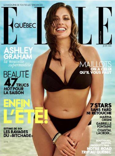 Continúa la revolución curvy: Ashley Graham portada de Elle Québec