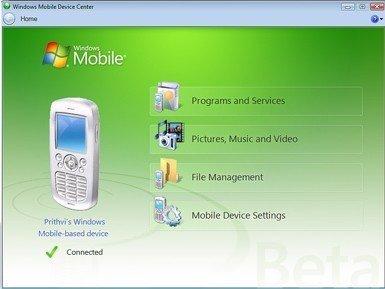 Windows Mobile Device Center, sustituto de Activesync
