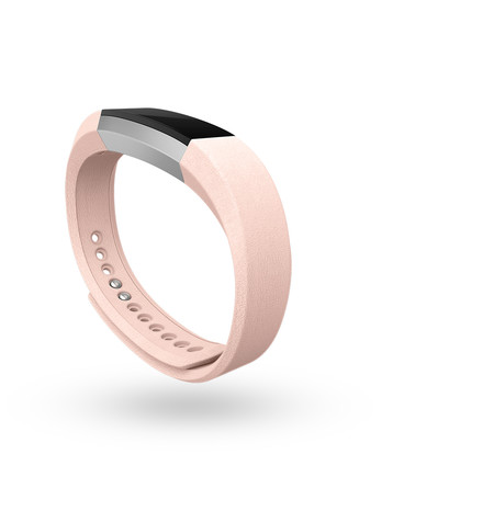 Fitbit Alta Luxe Leather Blush Pink Side