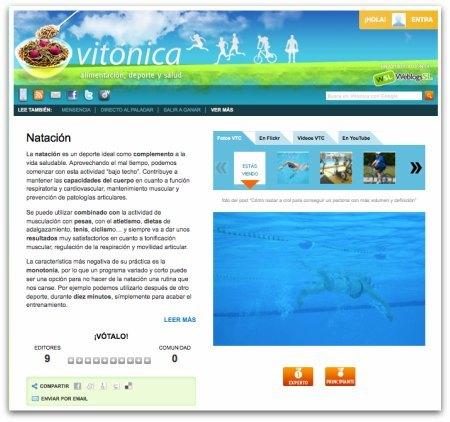 Vitónica 2.0: toda la información sobre tus ejercicios o deporte favorito en una sóla página
