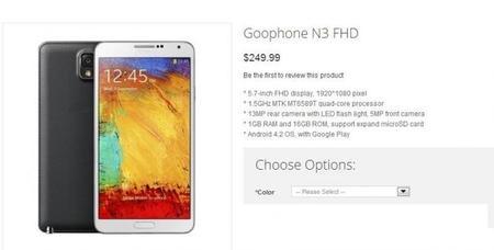 ¿Quieres un clon Note 3 a un súper precio?