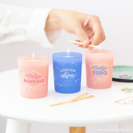 Mr wonderful Set 3 Velas Para Parejas Con Chispa Para Rato Es 5