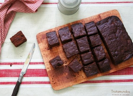 Brownies con doble chocolate. Receta