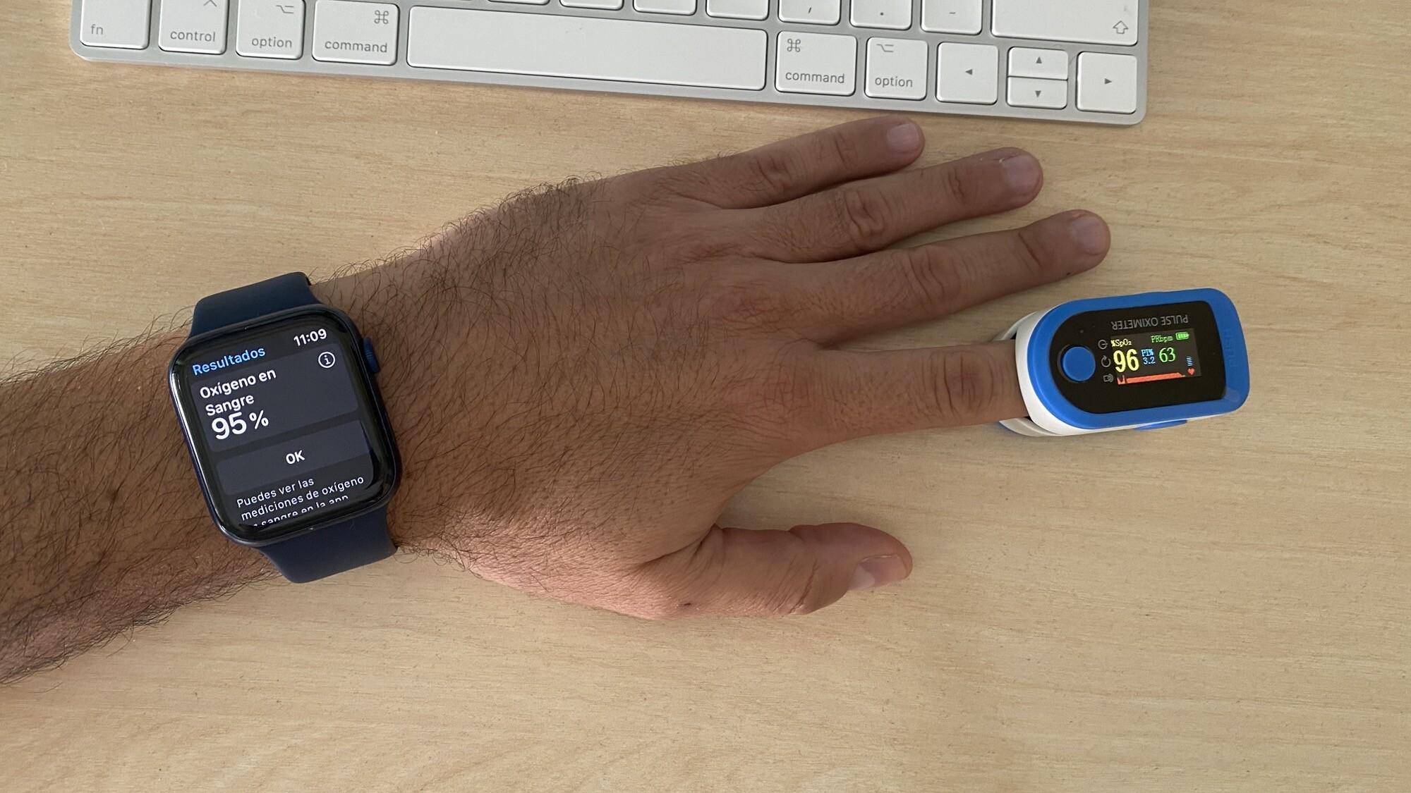 Foto de Mediciones simultáneas SpO2 con Apple Watch Series 6 y pulsioxímetro de dedo (4/12)