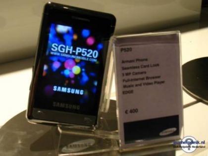 Móvil de Armani y más productos en colaboración con Samsung