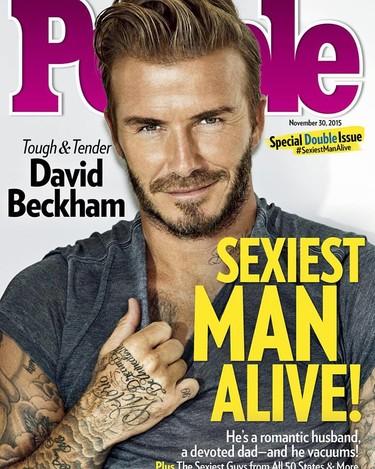 Y David Beckham se convirtió en el hombre más sexy del año, ¡sí!