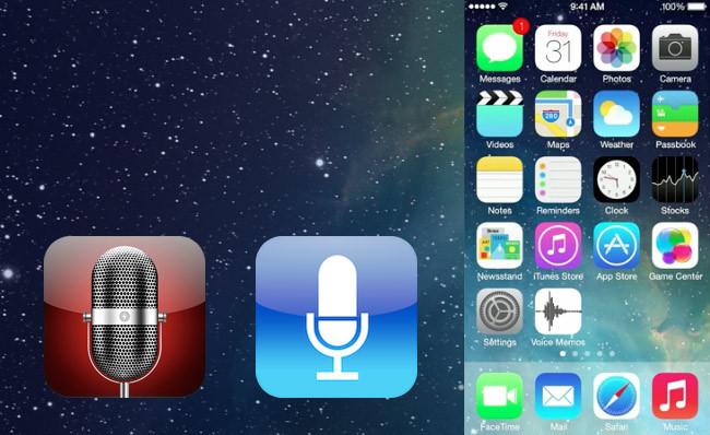 iOS 7 Voice Memos (Notas de voz)