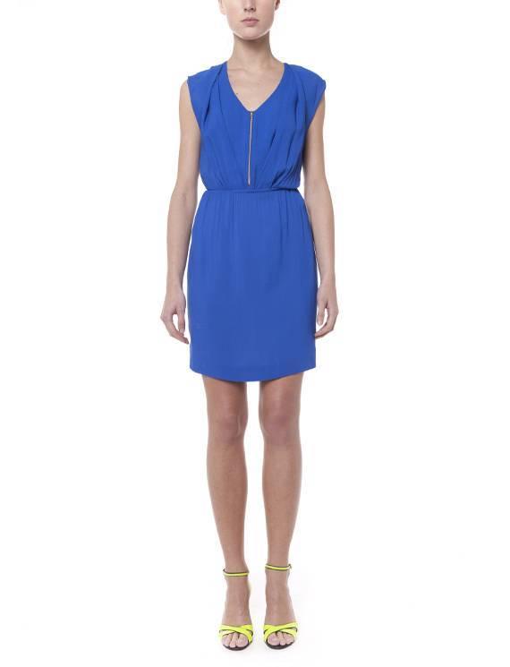 vestido sandro azul