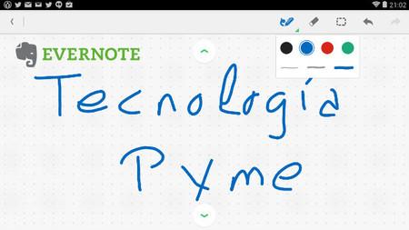 Evernote para Android ya permite insertar notas con escritura manual