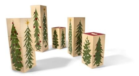Cubos de madera de Uncle Goose (versión navideña)