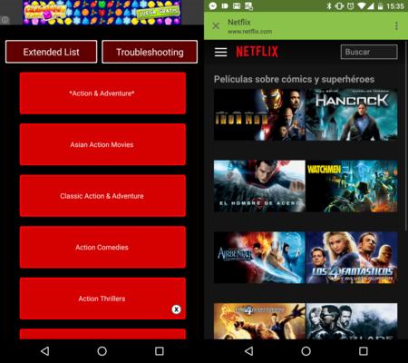 Cómo acceder de forma rápida a las categorías ocultas de Netflix en Android