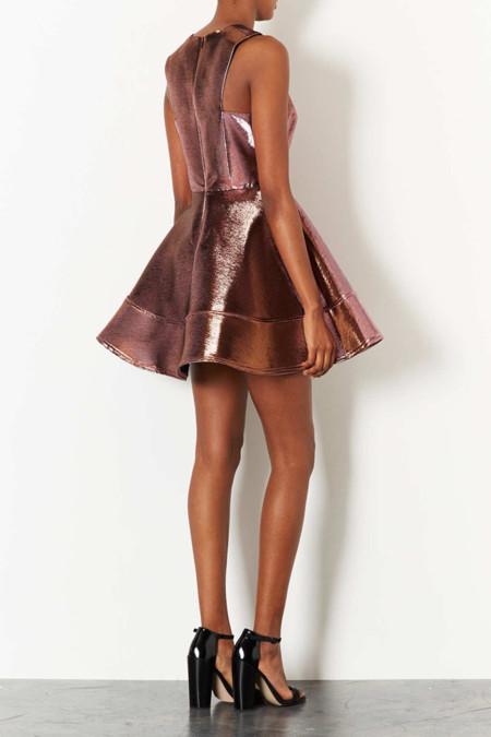 vestido metalico