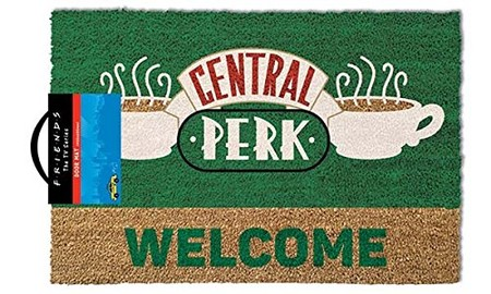 Friends Central Perk Welcome Felpudo Poliuretano Color Marron De Friends513jvqw151l