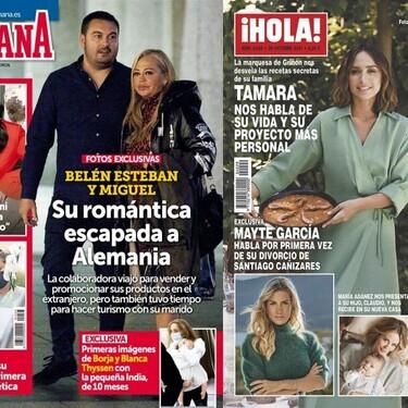 El nuevo proyecto culinario-familiar de Tamara Falcó y la petición pública de Rosa López a su novio: estas son las portadas del miércoles 13 de octubre