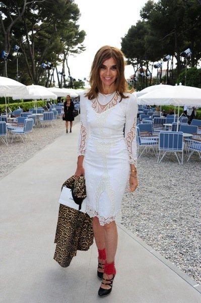 Carine Roitfeld Chanel Crucero front row