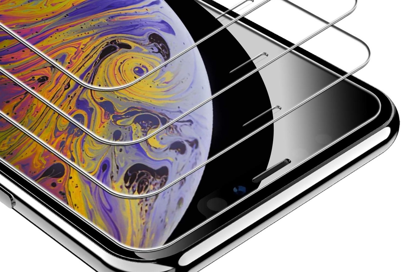 MMY iPhone 8/plus funda transparente Ultra delgada Premium de cristal l/íquido TPU Poliuretano termopl/ástico funda carcasa de silicona transparente
