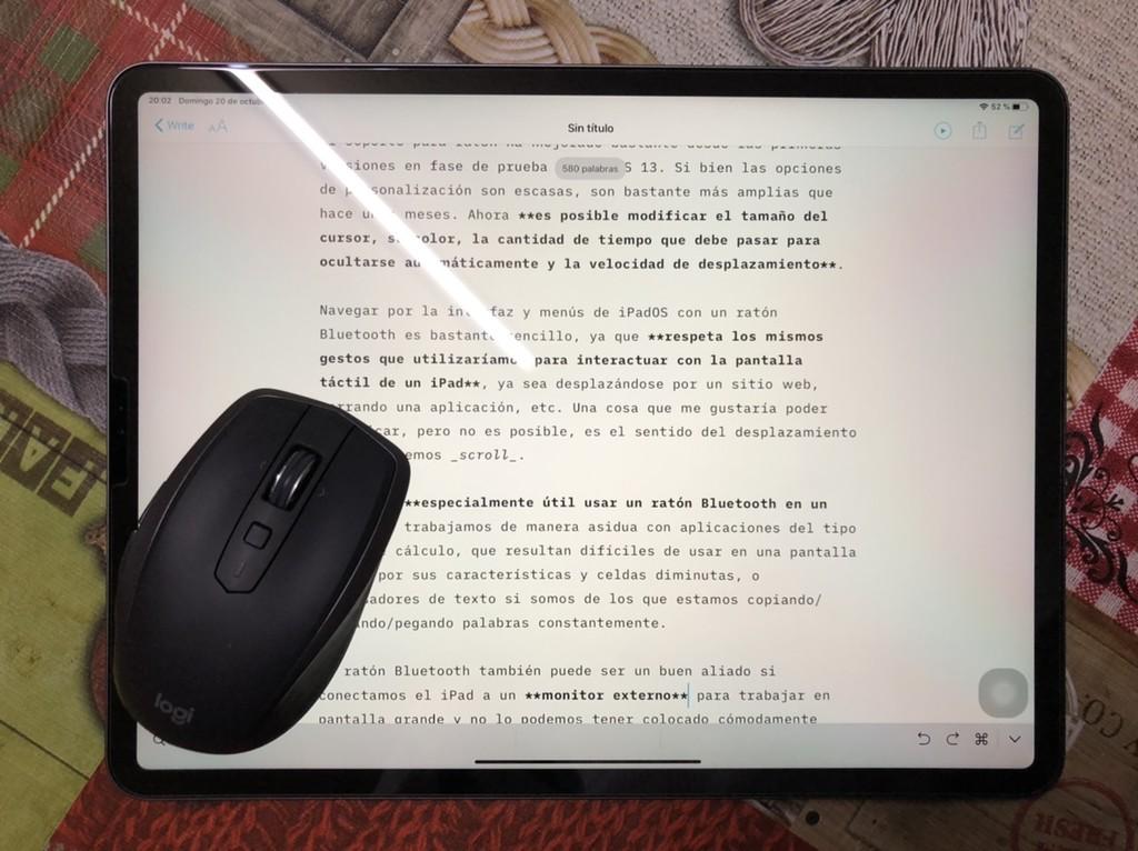 Ratón Bluetooth en iPadOS: cómo activarlo en un iPad y usos