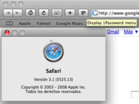 1Password ya funciona con Safari 3.1