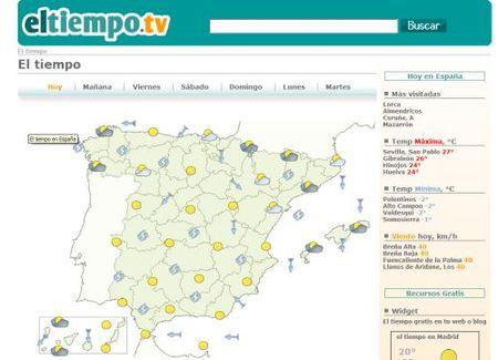 Eltiempo.tv, el clima en 8000 localidades españolas
