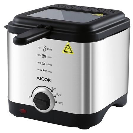 Oferta flash en Amazon: Freidora Aicok con Cool Touch rebajada por sólo 22,60 euros