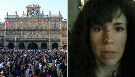 La Policía carga esta vez contra los indignados de Salamanca