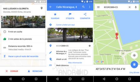 """Google Maps 9.35 para Android: ahora con códigos """"Plus code"""" y nueva información """"Has llegado a..."""""""