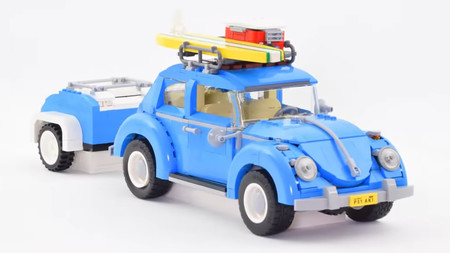 Ponte en pie y aplaude al autor de este pedazo de vídeo sobre un Volkswagen Beetle de Lego