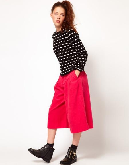 asos wide crop trousers