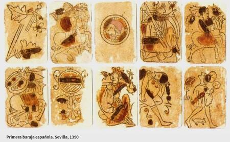 Baraja española de cartas de 1390.