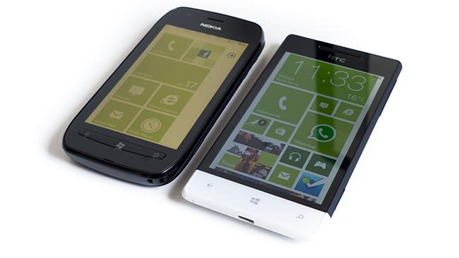 Nokia Lumia 710 - HTC 8s