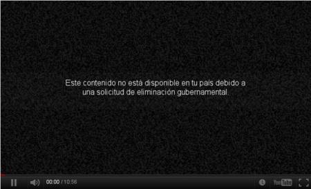 YouTube: borrado por petición gubernamental