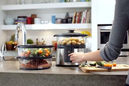 Ofertas de cocina en Amazon: vaporera Philips Avance Collection HD9190/30, pizzera Princess y set de tres sartenes Monix Copper a mejor precio