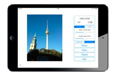 Image Resizer+, redimensionando imágenes desde iOS