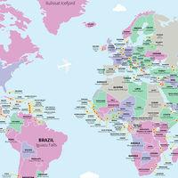 El mapa de las mejores atracciones turísticas de cada país del mundo según los usuarios de TripAdvisor
