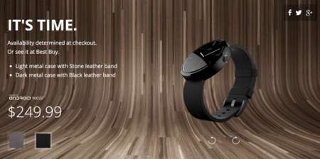 Moto 360 nuevamente disponible desde su website oficial en EUA