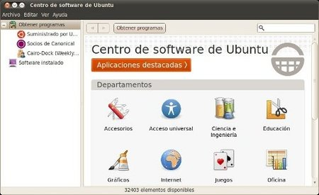 Centro de software Ubuntu