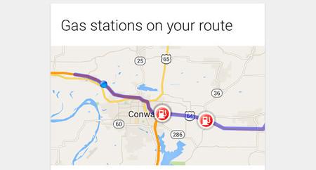 Google Now añade tarjeta para las gasolineras cercanas a nuestra ruta