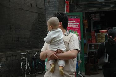 En China muchos niños no utilizan pañales
