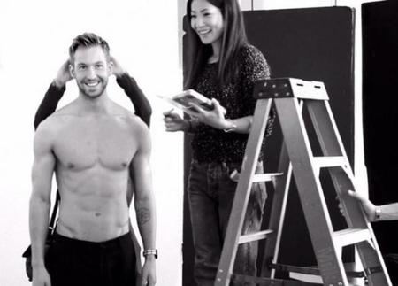 Calvin Harris Emporio Armani Campaign Behind The Scenes Shirtless 800x471